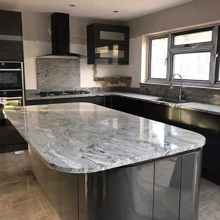 Kitchen Remodel Kent Wa: Viscount White Granite