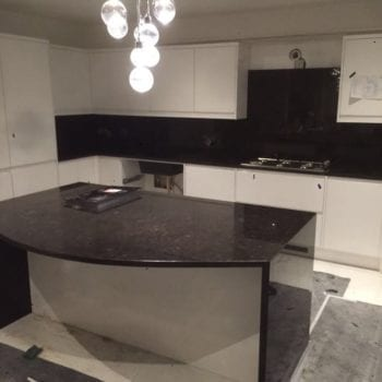 brown kitchen quartz worktops