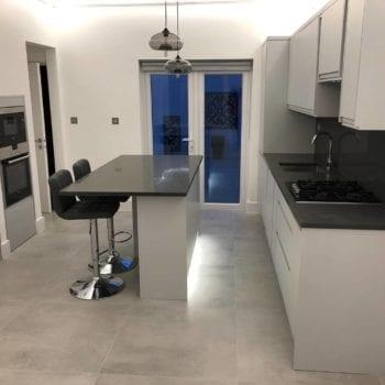 dark grey quartz worktops, kitchen dark worktop, stone dark worktop, dark quartz