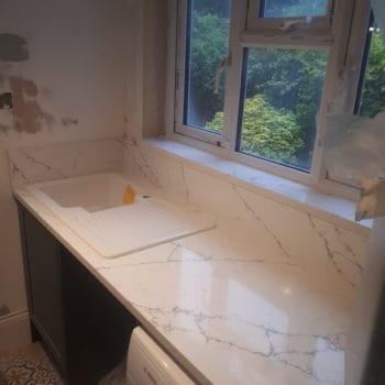 Alaska Bianco, quartz vs granite, Alaska quartz worktops