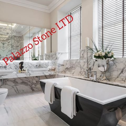 marble bathroom calacatta oro, marble London