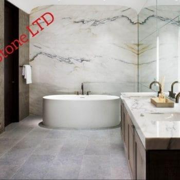 Marble bathroom wall cladding, marble bathroom London